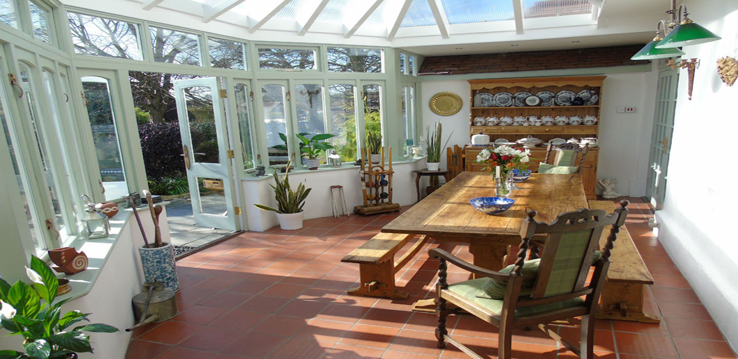 Our conservatory dining area